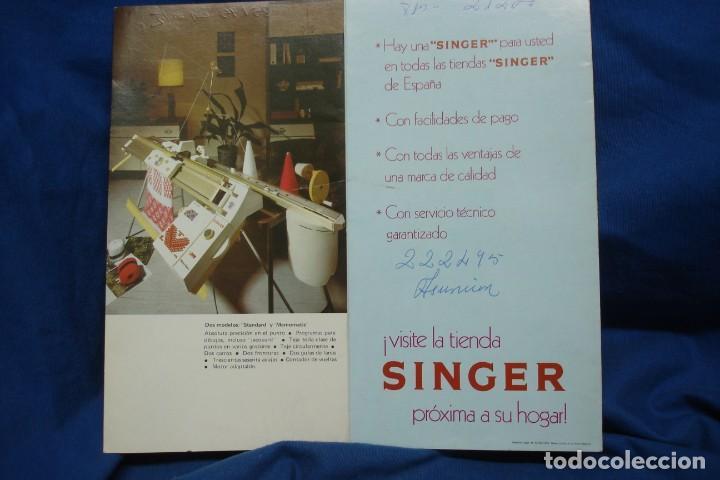 Antigüedades: CATÁLOGO SINGER DESPLEGABLE DE 1975 - Foto 3 - 218638912