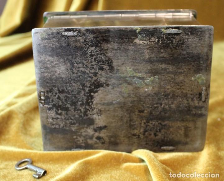 Antigüedades: Caja caudales acero, con su llave, 16 x 13 cm - Foto 3 - 218639827