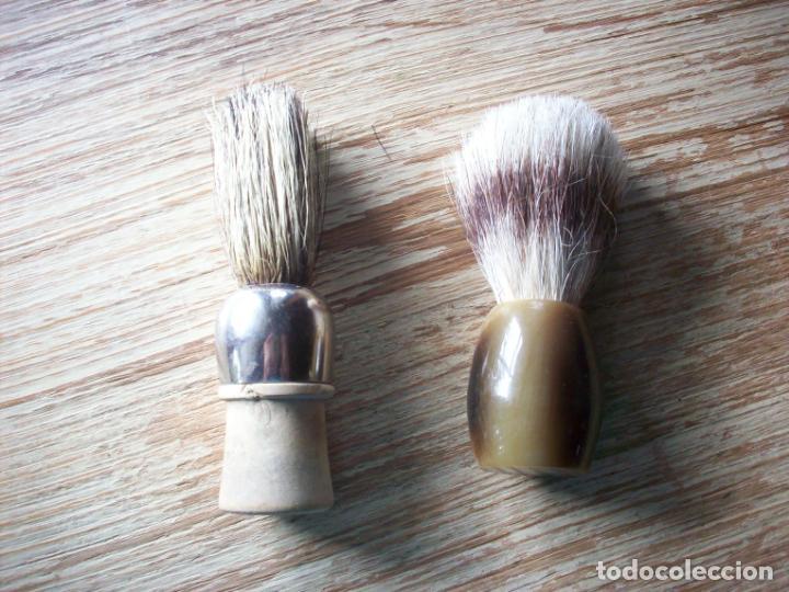 ANTIGUAS BROCHAS DE AFEITAR . (Antigüedades - Técnicas - Barbería - Varios Barbería Antiguas)