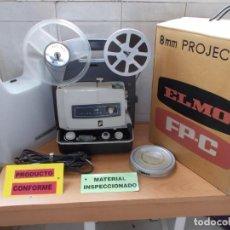 Antigüedades: ELMO FP-C PROYECTOR DE CINE 8MM Y SUPER8 CON REGULADOR DE VELOCIDAD REVISADO Y FUNCIONANDO.. Lote 218694703