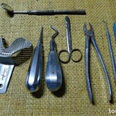 Antiquités: LOTE DE ANTIGUAS HERRAMIENTAS, DENTISTA, ODONTOLOGO. Lote 218772783