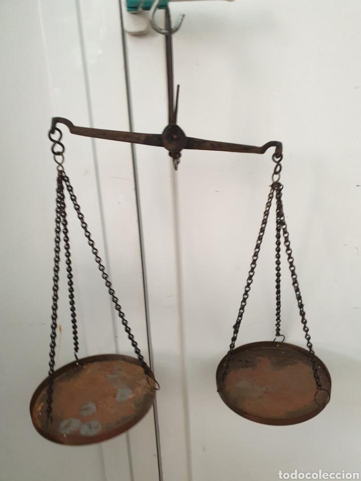 ROMANA DE PLATOS (Antigüedades - Técnicas - Medidas de Peso - Romanas Antiguas)