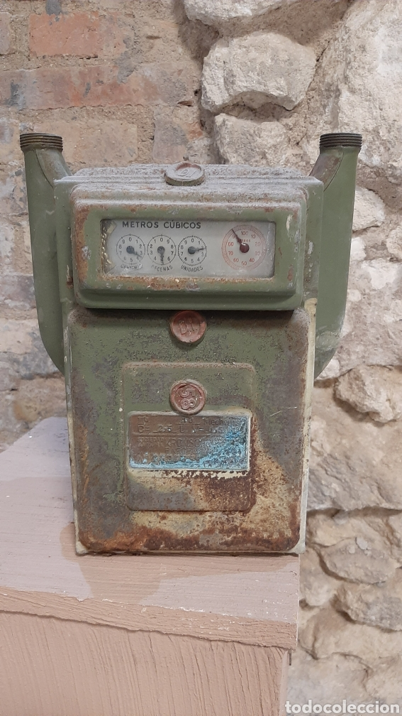 ANTIGUO CONTADOR DE GAS (Antigüedades - Técnicas - Herramientas Antiguas - Otras profesiones)