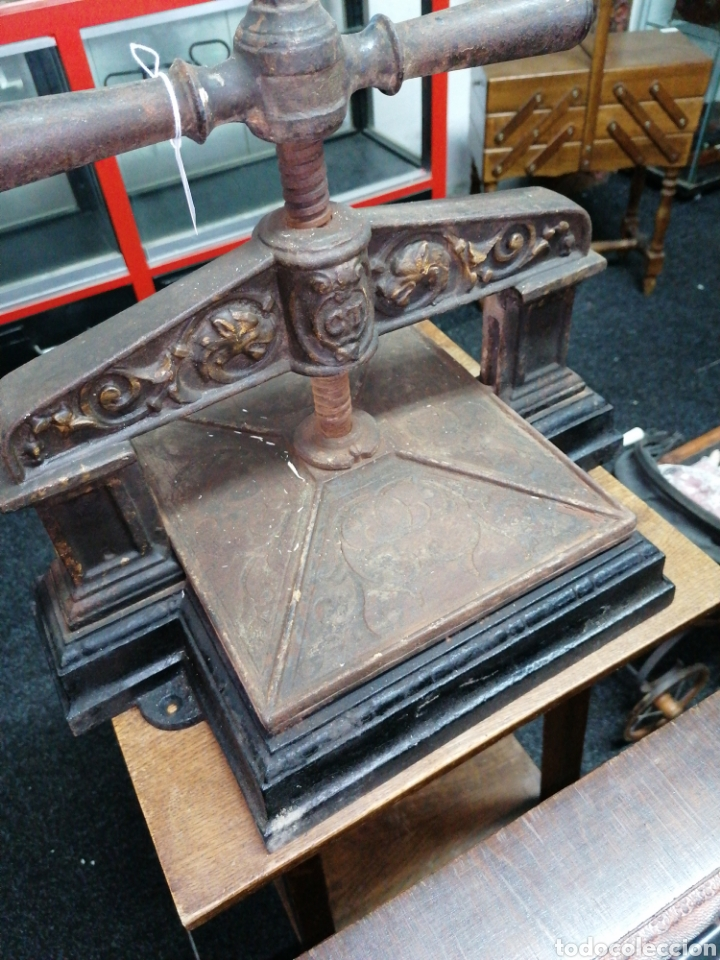 Antigüedades: Prensa de imprenta - Foto 5 - 218808765