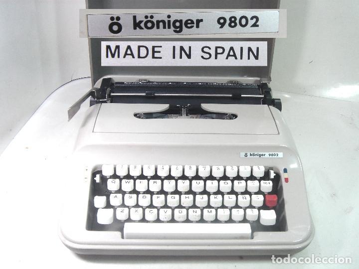 MAQUINA ESCRIBIR - KONIER 9802 MADE IN SPAIN AÑOS 80/90 ¡¡MUY BUEN ESTADO + MALETA -ANTIGUA DE Ñ (Antigüedades - Técnicas - Máquinas de Escribir Antiguas - Olivetti)