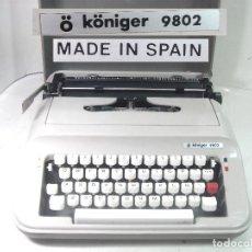 Antigüedades: MAQUINA ESCRIBIR - KONIER 9802 MADE IN SPAIN AÑOS 80/90 ¡¡MUY BUEN ESTADO + MALETA -ANTIGUA DE Ñ. Lote 218878907