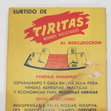 Antigüedades: TIRITAS AL MERCUROCROM, LAB.UNITEX ,MATARP , AÑOS 1950. Lote 218895267