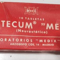 Antigüedades: PAZTECUM ,LAB.MEDIX , MADRID ,MEDICAMENTO , AÑOS 1950-60. Lote 218896023