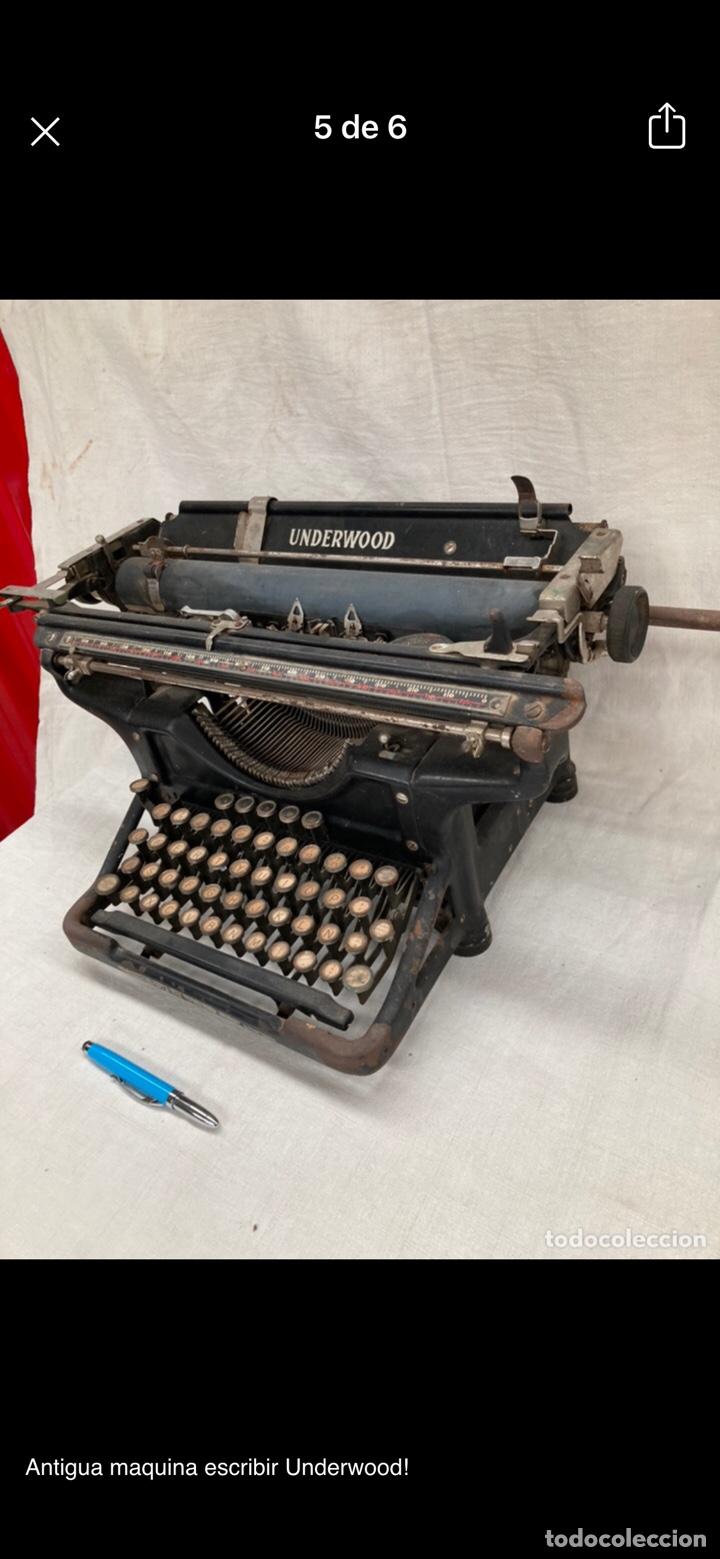Antigüedades: Preciosa maquina escribir underwood - Foto 2 - 218898545