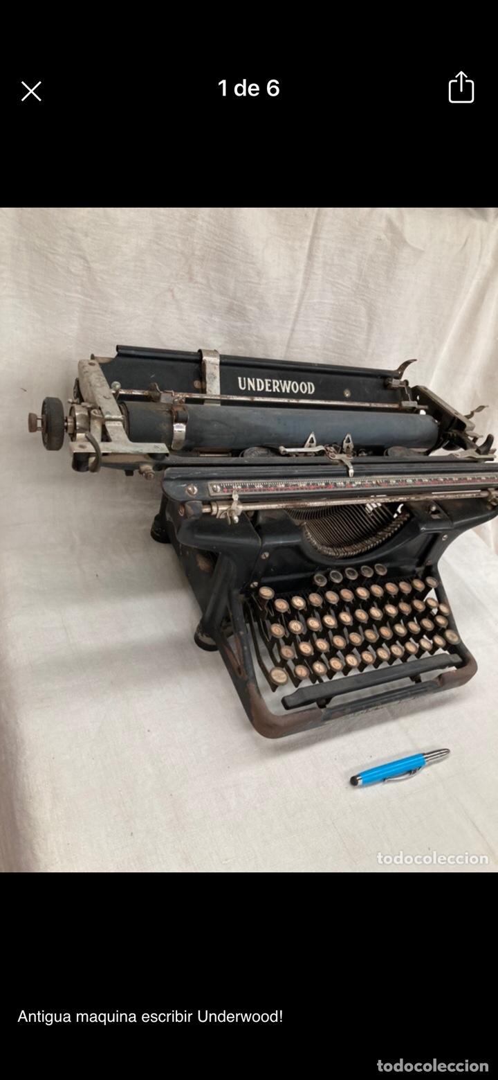 Antigüedades: Preciosa maquina escribir underwood - Foto 6 - 218898545