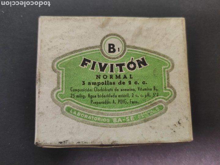 FIVITON B1 MEDICAMENTO FARMACIA LABORATORIOS BASE (Antigüedades - Técnicas - Herramientas Profesionales - Medicina)