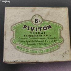 Antigüedades: FIVITON B1 MEDICAMENTO FARMACIA LABORATORIOS BASE. Lote 218909478