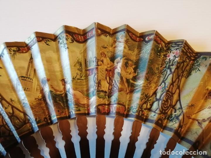Antigüedades: ABANICO DE PUBLICIDAD MÁQUINAS DE COSER SINGER- FIRMADO ORTELLS GIMENO VALENCIA - AÑOS 20 - Foto 4 - 218926712