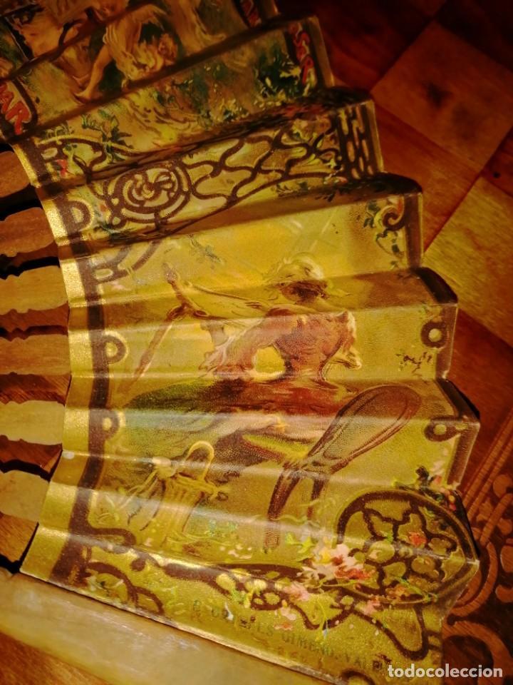 Antigüedades: ABANICO DE PUBLICIDAD MÁQUINAS DE COSER SINGER- FIRMADO ORTELLS GIMENO VALENCIA - AÑOS 20 - Foto 6 - 218926712