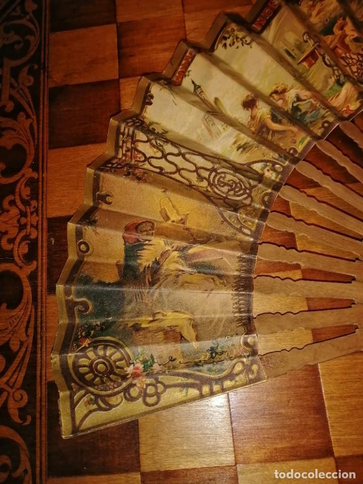 Antigüedades: ABANICO DE PUBLICIDAD MÁQUINAS DE COSER SINGER- FIRMADO ORTELLS GIMENO VALENCIA - AÑOS 20 - Foto 7 - 218926712