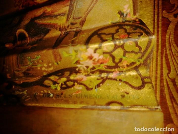 Antigüedades: ABANICO DE PUBLICIDAD MÁQUINAS DE COSER SINGER- FIRMADO ORTELLS GIMENO VALENCIA - AÑOS 20 - Foto 9 - 218926712