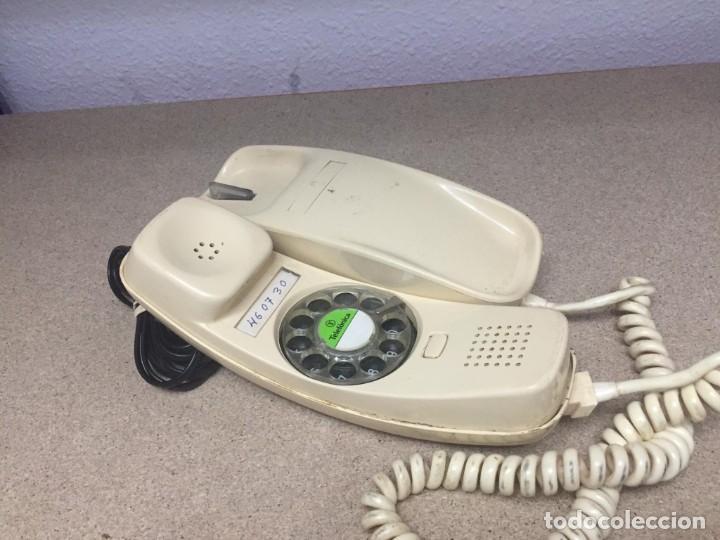 ANTIGUO TELÉFONO DE GÓNDOLA COLOR HUESO (Antigüedades - Técnicas - Teléfonos Antiguos)