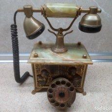 Teléfonos: ANTIGUO TELEFONO FATAP ITALIANO REPUJADO EN LATON DE ESTILO MODERNISTA * PERFECTO *. Lote 219020640