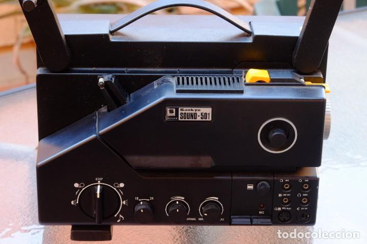Antigüedades: Sankyo Sound 501.Proyector sonoro. FUNCIONANDO - Foto 2 - 219176722