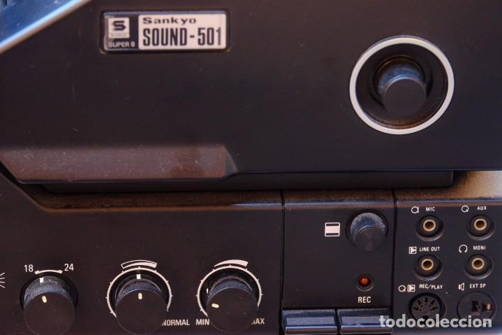 Antigüedades: Sankyo Sound 501.Proyector sonoro. FUNCIONANDO - Foto 3 - 219176722