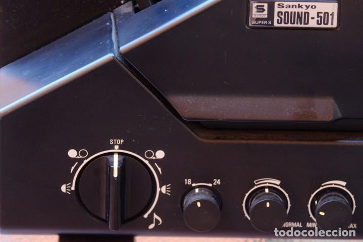 Antigüedades: Sankyo Sound 501.Proyector sonoro. FUNCIONANDO - Foto 4 - 219176722