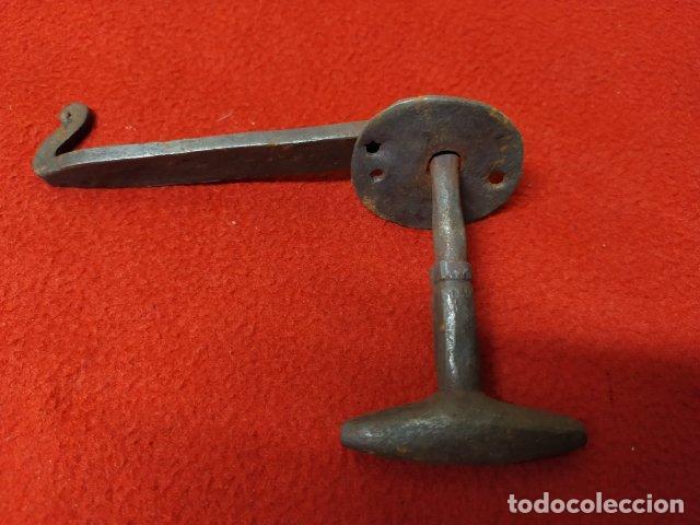 Antigüedades: ANTIGUO PESTILLO DE FORJA - Foto 3 - 219198268