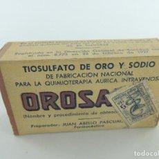 Antigüedades: ANTIGUO FÁRMACO MEDICINA - TIOSULFATO DE ORA Y SODIO- OBJETO DE COLECCIÓN. Lote 219220453