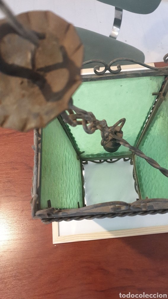 Antigüedades: Antiguo Farol de Forja - Foto 2 - 219275230