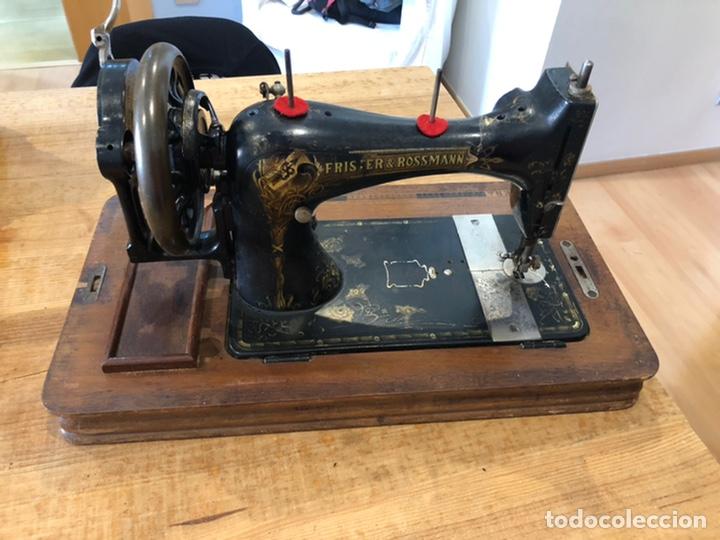 ANTIGUA MAQUINA DE COSER ALEMANA FRISTER&ROSMAN NÚM. SERIE 1084208 (Antigüedades - Técnicas - Máquinas de Coser Antiguas - Frister & Rossmann)