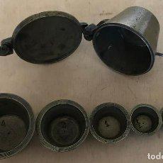 Antigüedades: PONDERAL DE VASOS ANIDADOS. COMPLETO. FINALES DEL SIGLO XVIII. Lote 219380947