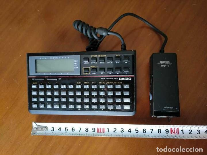 Antigüedades: CASIO DIGITAL WRITER HW-1 - HANDY WRITER ELECTRONIC LETTERING SYSTEM - Foto 18 - 219425947