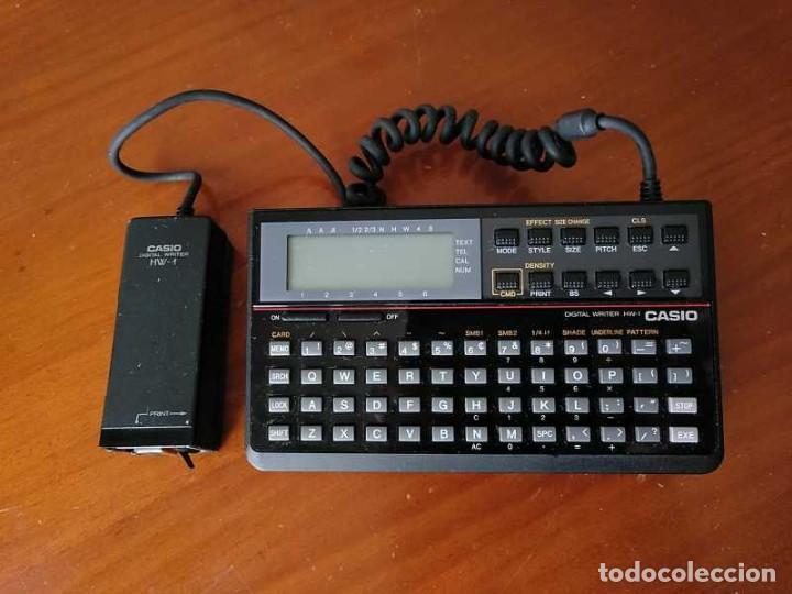 Antigüedades: CASIO DIGITAL WRITER HW-1 - HANDY WRITER ELECTRONIC LETTERING SYSTEM - Foto 47 - 219425947