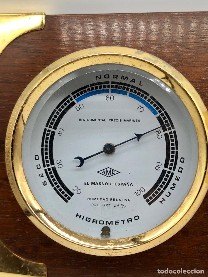 Antigüedades: Auténtica estación meteorológica barco náutica INSTRUMENTAL PRECIS MARINER - Foto 3 - 219446213