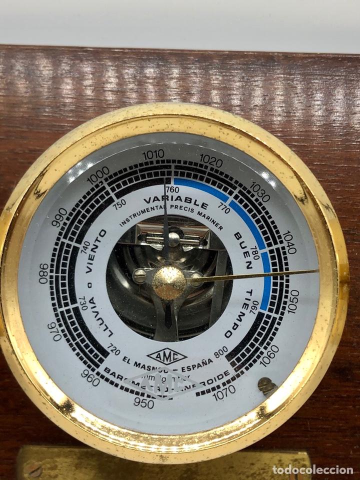 Antigüedades: Auténtica estación meteorológica barco náutica INSTRUMENTAL PRECIS MARINER - Foto 4 - 219446213