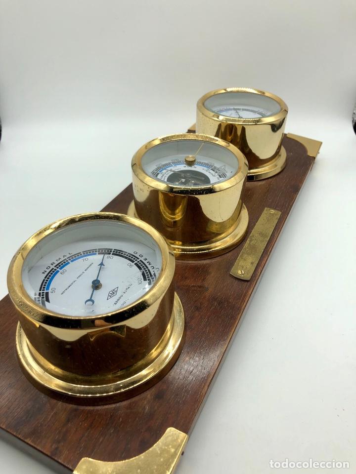 Antigüedades: Auténtica estación meteorológica barco náutica INSTRUMENTAL PRECIS MARINER - Foto 6 - 219446213