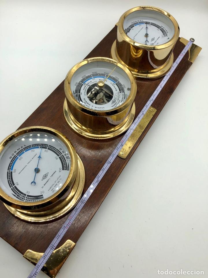Antigüedades: Auténtica estación meteorológica barco náutica INSTRUMENTAL PRECIS MARINER - Foto 16 - 219446213