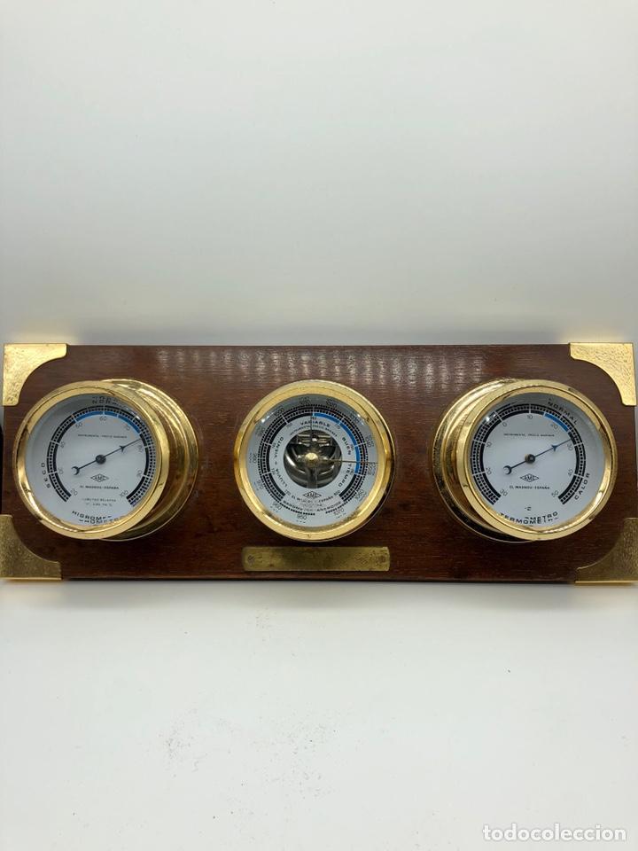 Antigüedades: Auténtica estación meteorológica barco náutica INSTRUMENTAL PRECIS MARINER - Foto 21 - 219446213