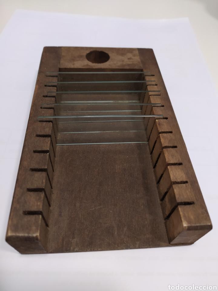 ANTIGUO PORTA PORTAS MICROSCOPIO (Antigüedades - Técnicas - Instrumentos Ópticos - Microscopios Antiguos)