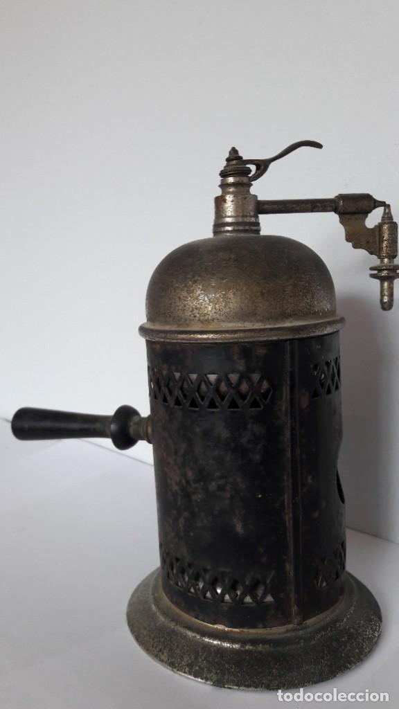 Antigüedades: Antiguo pulverizador o atomizador de barbero o médico de origen parisino. Finales XIX. - Foto 2 - 219498620