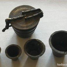 Antigüedades: PONDERAL DE VASOS ANIDADOS. COMPLETO. SEGUNDA MITAD DEL SIGLO XIX. Lote 219525755
