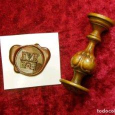 Antigüedades: SELLO O TAMPÓN METÁLICO ALEMÁN PARA LACRE, DEL SIGLO XIX.. Lote 219543498