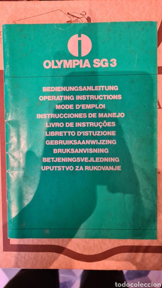 Antigüedades: Maquina de escribir Olympia SG3 + manual - Foto 4 - 219822455