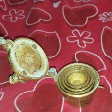 Antiquités: ANTIGUO MEDIDOR PONDERALES BRONCE SIGLOXVIII. Lote 219829315