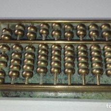 Antigüedades: ABACO EN METAL Y MARMOL. Lote 219862351