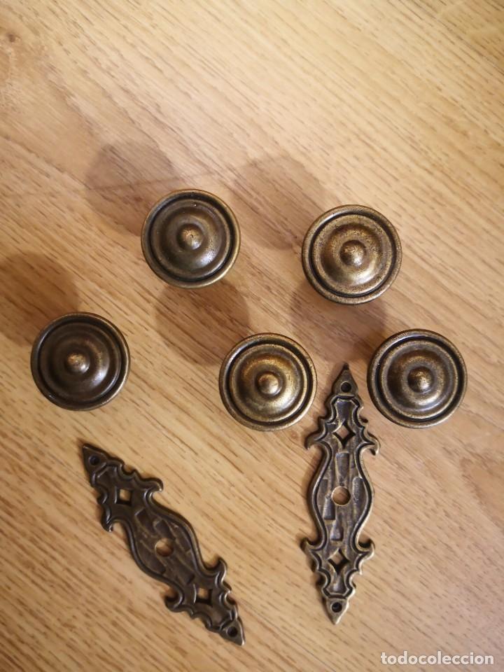 TIRADORES DE BRONCE (Antigüedades - Técnicas - Cerrajería y Forja - Tiradores Antiguos)