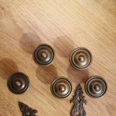 Antigüedades: TIRADORES DE BRONCE. Lote 219907325
