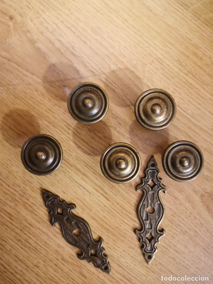 Antigüedades: Tiradores de bronce - Foto 2 - 219907325