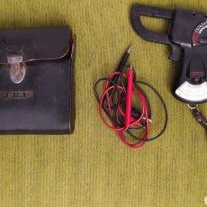 Antigüedades: ELECTROPINZA AMPERIMÉTRICA MARCA GEICO METRIX CON CABLES Y FUNDA.. Lote 219921282