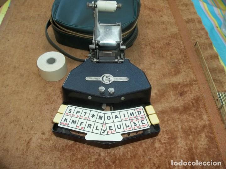 MAGNIFICA MAQUINA DE ESCRIBIR ESTEREOTIPIA O TAQUIGRAFIA CON FUNDA PERFECTA FUNCIONANDO 169,00 € (Antigüedades - Técnicas - Máquinas de Escribir Antiguas - Otras)
