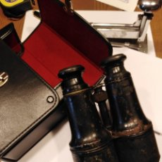 Antigüedades: IMPRESIONANTES BINOCULARES PROPIOS DEL DOCTOR LIVINGSTONE Y ESTUCHE DE CUERO DE REGALO POR SÓLO 150. Lote 220193505